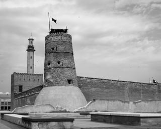 Al Fahidi Fort, Dubai, United Arab Emirates. It is now the Dubai museum.
