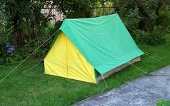 Vintage tent, oldskulowy, dwuosobowy  namiot domkowy