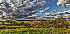IMG_5049-52Ptzl1scTBbLGER2 (ultravivid imaging) Tags: ultravividimaging ultra vivid imaging ultravivid colorful canon canon5dmk2 clouds fields farm rural vista pennsylvania pa panoramic lateafternoon evening autumn sunsetclouds stormclouds countryscene scenic