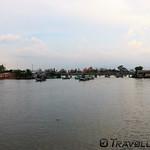Fishing fleet heading out for the night, Kampot thumbnail