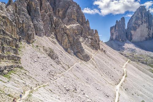 Walking towards the Rifugio Locatelli