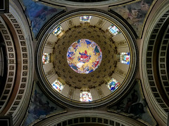 pantocrator ceiling dome (ikarusmedia) Tags: architecture exchurch dome ceiling painting baroque exttesera contemporany art painted glass downtown historical center mexico city pantocrator colonial