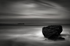 Pacific Monolog (StefanB) Tags: 2017 bw california clouds coast em5 geotag horizon outdoor pacific portfolio sea seascape 1235mm mossbeach longexposure