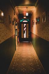 Dark corridor (Tiph Haine) Tags: sony alpha 7ii sonyalpha7ii sonyfrance fullframe pleinformat 28mm primelense sony28mf2 amateur lightroom tpix french français france lorraine moselle grandest streetart graphic paint graffitiart art exhibition exposition argancy louvrage unephasedeuxstyles