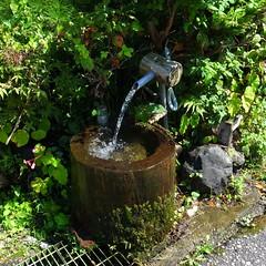 fresh water (*suika *) Tags: japan rural mountainside riverside fresh air water 栃木県・古峰ヶ原 2012年9月 grd4 夏のアルバム 思ひ出 道端