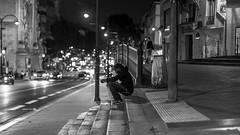 DSCF6820 (::Lens a Lot::) Tags: carl zeiss planar 50mm ƒ14 t✮ aej mid 70's | 6 blades iris cy mount f14 black white street photography train gate people bench vintage manual fixed prime lens german germany noir et blanc monochrome intérieur station personnes profondeur de champ bokeh depth field dof 2017 paris portrait night light darkness