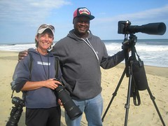 Surf photographers Mary Dunham and myself Eric L. Cooper covering the surfing scenes in both New Jersey and New York
