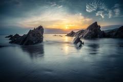 Polhawn Sunset (Timothy Gilbert) Tags: polhawn beach wideangle sunset whitsandbay coast ultrawide panasonic nikcollection gx8 olympus918mmf4056 cornwall boulders rocks breathtakinglandscapes