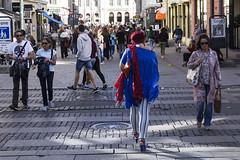 Blue in the street (Mona_Oslo) Tags: blue streetshot streetphotography oslo oslos karl johans gate