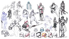 Missionary sketch dump (justin pyne) Tags: justin pyne holy nation missionary need thee concept art illustration character design photoshop pen ink comic sword spear helmet sketch dump sci fi science fiction fantasy