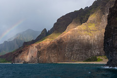 Na Pali (onepoorguy) Tags: hawaii rainbow ocean coast napali