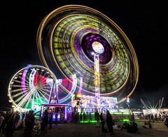 All the fun of the fair (Nick L) Tags: greatdorsetsteamfair steamfair steam funfair fair fairgroundride gdsf longexposure night nightscape nightsky fairscape 1635lii canon eos 5d 5d3