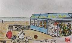 La France des sous-préfectures 76 (chando*) Tags: france croquis sketch watercolor aquarelle