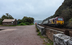 Torbay and Dart Explorer (Teignstu) Tags: teignmouth devon seawall railway railtour class67 67030