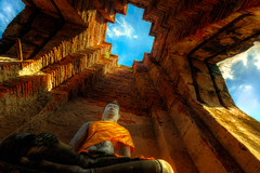 The light within (Stan Smucker) Tags: buddhaimage temple architecture ruins watprasatnakhonluang