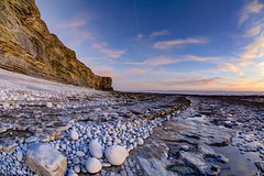 Rock City (pauldunn52) Tags: nash point glamorgan heritage coast wales cliffs rock wave platforms round pebbles sunset