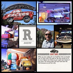 Racin' through Radiator Springs is one of my fave things to do in California Adventure. #theockeysgotodisneyland #projectmouse #projectlifeapp #memorykeeping #disneyland #californiaadventure #radiatorspringsracers (girl231t) Tags: ifttt instagram 2017 vacation scrapbook layout 12x12layout projectlifeapp affinityphotoapp