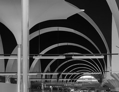 aeroport perspective (Rudy Pilarski) Tags: nikon tamron thebestoffnikon thepassionphotography d7100 18270 abstract abstrait line courbes perspective nb bw monochrome travel aeropuerto aéroport ngc