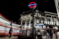 Capital Power (DarrenCowley) Tags: flickrfriday power underground longexposure lighttrails london lightpainting energy night motion oxfordcircus