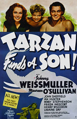 Tarzan Finds a Son (1939, USA) - 01 (kocojim) Tags: maureenosullivan illustrated kocojim movieposter poster johnnyweissmuller advertising illustration film johhnnysheffield motionpicture movie publishing