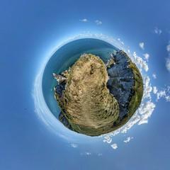 Stunning cliffs of Etretat planet