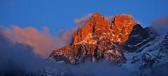 Photo montagne panoramique / Chamonix Mont-Blanc coucher de soleil d'un soir de fin d'été (BOILLON CHRISTOPHE) Tags: photoboillonchristophe nikond4 landscape massifdesaiguillesdechamonix massifdumontblanc france chamonix sunset expo