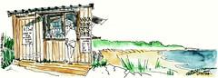 Ile d'Oléron, Domino, A l'Ouest (Croctoo) Tags: croctoo croctoofr croquis watercolor aquarelle poitou poitoucharentes charentemaritime oléron