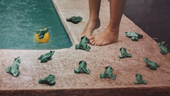 421 An Army (Katrina Yu) Tags: selfportrait origami frog paper prince feet fineartphotography surreal conceptual creative concept water 2017 365project