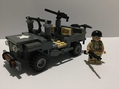 Prototype Willy's jeep (aaroning) Tags: lego battlefield ww2 wwii warfare wars war world second usa call of duty willys jeep
