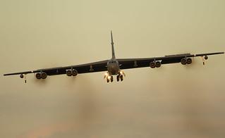 B-52 arrival at RAF Fairford