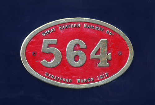 Great Eastern Railway 564 plate