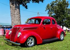 1937 Ford Coupe (J Wells S) Tags: 1937fordcoupe streetrod hotrod carbazaarcarshow butlercountyfairgrounds hamilton ohio