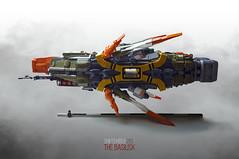SHIPtember 2017: The Basilisk (Brixnspace) Tags: shiptember ship basilisk battlecruiser spaceship olive orange lego mist