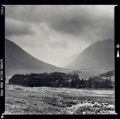 Bronica SQ-A-029-008 (michal kusz) Tags: auchreoch scotland highlands bronica sqa ilford delta 400 800 zenzanon blackandwhite bw rock lake stone hills mountain ddx epson v600 toned negative 6x6 120 film squere frame 80mm