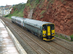 Great Western Railway Class 153 Super Sprinters 153318, 153333 and 153372 depart from Dawlish (Oz_97) Tags: dawlish greatwesternrailway 153318 153372 153333