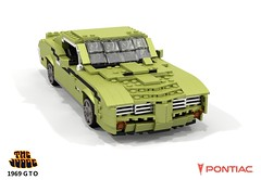 Pontiac 1969 GTO 'The Judge' (lego911) Tags: pontiac gm general motors 1969 1960s classic gto thejudge judge coupe hardtop v8 auto car moc model miniland lego lego911 ldd render cad povray lugnuts challenge 118 acultfollowing cult following usa america musclecar muscle foitsop