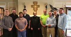 Bishop Persico with seminarians at Hope House - August 5, 2017