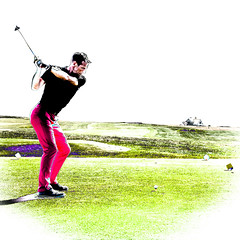 Keeping ones eye on the ball...... (AJFpicturestore) Tags: hss sliderssunday golf swing tee peakofaction themoment mulliongolfcourse cornwall thelizard alanfoster processextreme