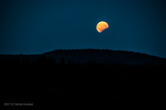Księżyc w zaćmieniu (MichalKondrat) Tags: natura masywśnieżnika niebo pejzaż krajobraz księżyc zachódsłońca polska 2017 zaćmienie noc czarnagóra las wieczór sudety sierpień dolnośląskie przyroda kotlinakłodzka góry