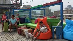 On the Pier in Scheveningen 2017 (anneke_vermeulen) Tags: sitting sit seated people pier dogs scheveningen denhaag thenetherlands thehague