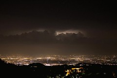 A thunderstorm on the plains (oltrelautostrada) Tags: timelapse video thunderstorm weather night italy emiliaromagna plains lightstorm clouds sky citylights landscape zoom canon 5d shadow darkness