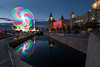 Wheel of Fortune (Mark Boadey) Tags: lights graces peirhead sunset liverpool mueseum reflecion albertdock fair thre boats
