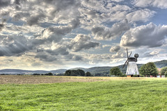 Windmill under clouds.... (HDRforEver) Tags: hdr photomatix canon 600d owl ostwestfalen nrw germany deutschland windmill windmühle clouds wolken sky himmel bluesky interesting new cloudy summer august nature natur landschaft landscape 19th century building mühle mill old