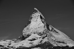 Matterhorn (girona90) Tags: matterhorn cervino zermatt landscape mountain berg switzerland schweiz gornergrat alps bnw bw blackandwhite monochrome monochromatic europe
