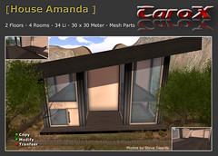 House Amanda (Dmx_Slade) Tags: prefab house shop store villa prim mesh secondlife building haus wohnhaus firestorm