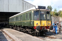 Railcar 121034 Old Oak Common 2nd September 2017  E1880 (focus- transport) Tags: trains old oak common open day classes 31 47 50 57 180 800 d british railways br oliver cromwell tornado colas gbfr gbrf gwr hst rail operations group railcar diesel steam great western railway high speed train gb freight