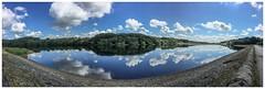 Rivington Lower Reservoir, Horwich, Bolton (Pitheadgear) Tags: cumulus clouds panoramic panorama iphone6plus northwest unitedutilities water reservoir lancashire bolton horwich rivington