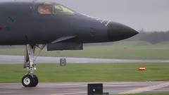 "B-1B ""crook01"" (Nick Collins Photography, Thanks for 2.75m views) Tags: b1b lancer rockwell usaf usa aircraft aviation flying military video afterburner raf fairford canon 7dmk2 500mm 700mm rain wet"