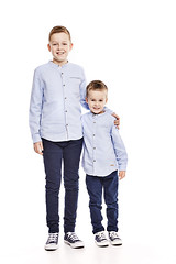 Brothers (LalliSig) Tags: studio portrait portraiture people kids children iceland white backround