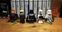 Concept Wars (LordAllo) Tags: lego star wars ralph mcquarrie concept art han solo luke skywalker darth vader boba fett stormtrooper
